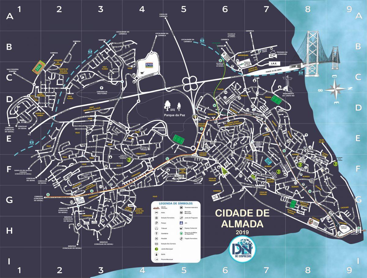 Mapa de Almada